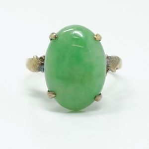 Jadeite and Gold Antique Ring